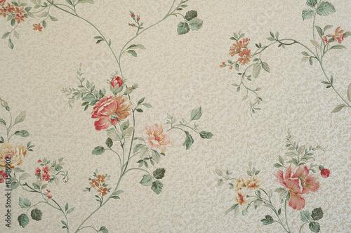 stara-tapeta-wzor-kwiaty