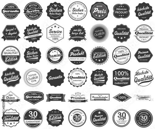 Obraz na plátne Button Siegel Premium Garantie Angebot Service Shop Logo