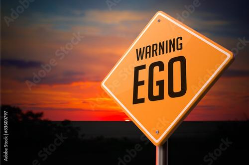 Obraz na plátně EGO on Warning Road Sign.