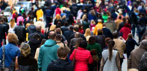Fototapeta Street crowd obraz