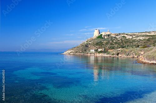 Lighthouse of Calamosca. Sardinia, Italy.
