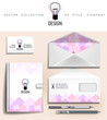 Abstract corporate identity template for design studio and logo