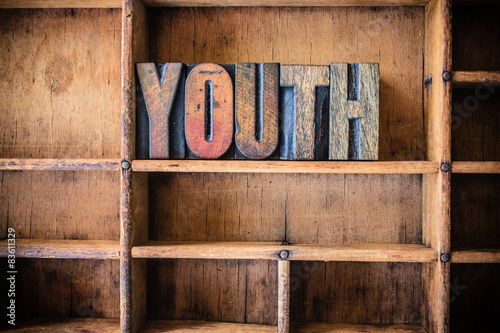 Obraz na plátně  Youth Concept Wooden Letterpress Theme