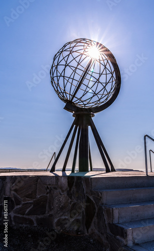 Acrylic Prints Pole Nordkapp Globe Sculpture