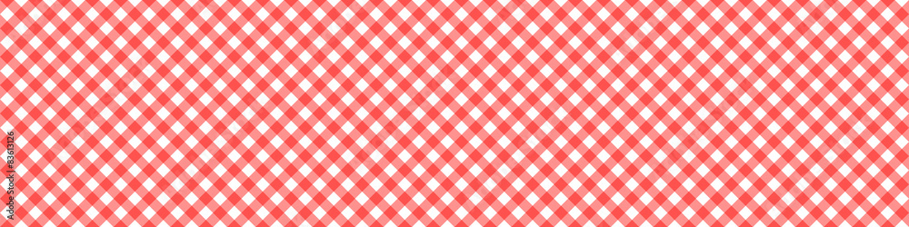 Red Tablecloth Multiply Colors Pattern