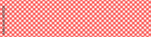 Fototapeta Red Tablecloth Multiply Colors Pattern