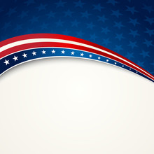 American Flag, Vector Patriotic Background