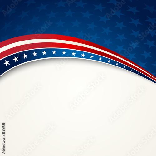 American Flag, Vector patriotic background Wall mural