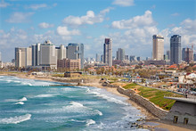 Tel Aviv - Outlook To Waterfront And City From Old Jaffa