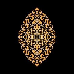 Panel Szklany Ornamenty Ornamental floral element for design.