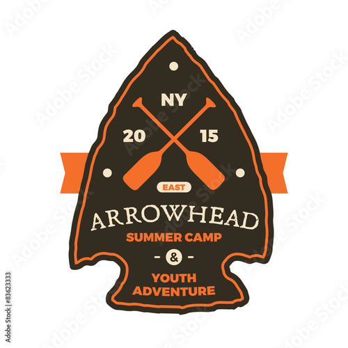 Arrowhead sign Wallpaper Mural