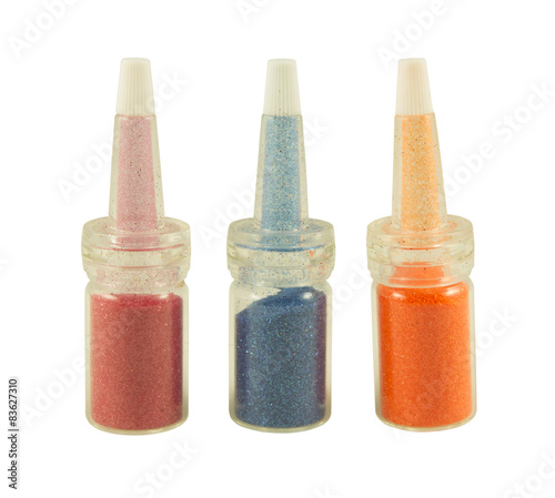 Colorful nail glitters