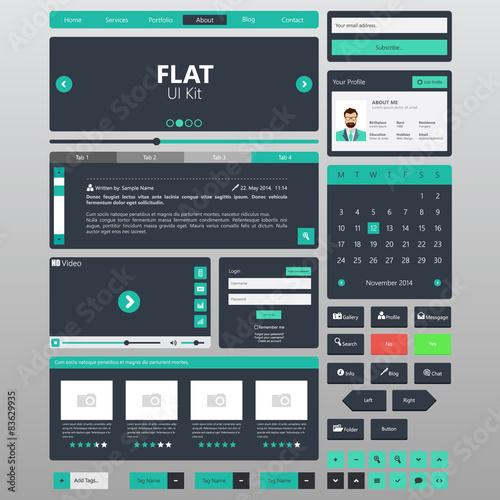 Flat Website Elements / Template Vector – kaufen Sie diese ...