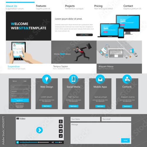 Fototapeta Modern website template design vector illustration obraz na płótnie