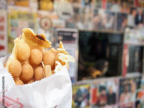 Keuken foto achterwand Hong-Kong Egg waffle