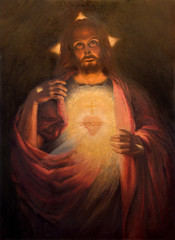 Plakat The Heart of resurrected Jesus Christ paint