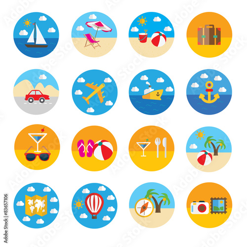 Vector flat travel icon - Buy this stock vector and explore similar