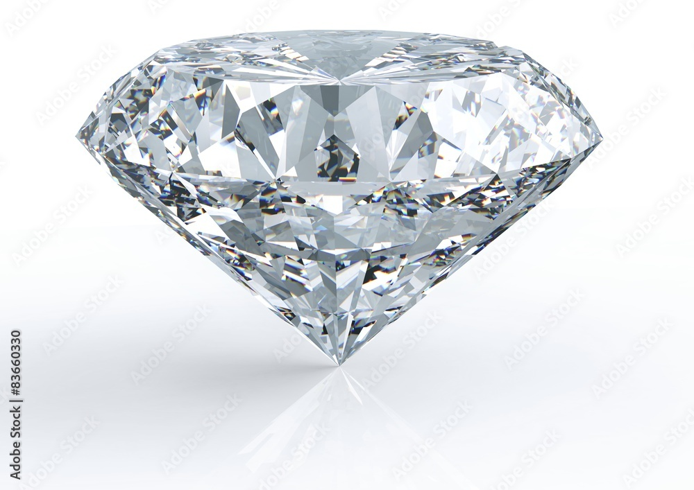 Fototapeta diamond isolated on white