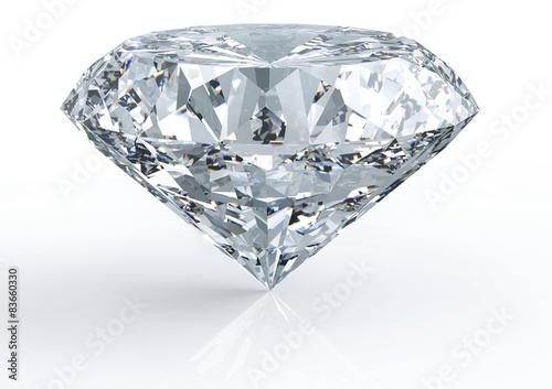 Fotografie, Obraz diamond isolated on white