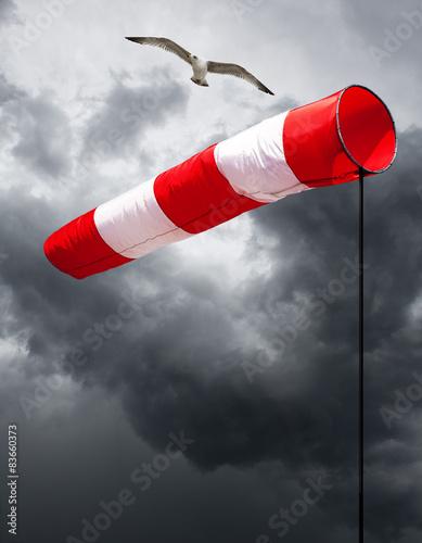 Printed kitchen splashbacks Storm Windfahne bei Sturm
