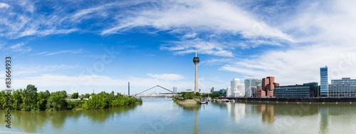 Poster Panoramafoto s Düsseldorf panorama