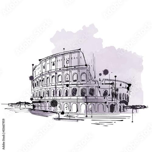 recznie-rysowane-doodle-szkic-koloseum-w-rzymie