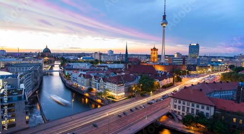 Fotobehang Berlijn Skyline Berlin, Blick auf den Alexanderplatz
