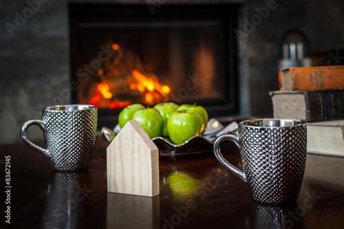 Fototapeta Home Staging, kominek  obraz