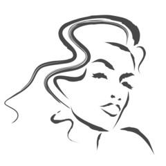 kobieta szkic wektor