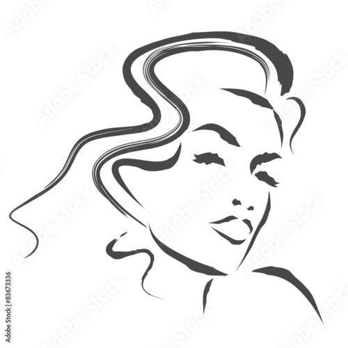 Fototapeta kobieta szkic wektor obraz