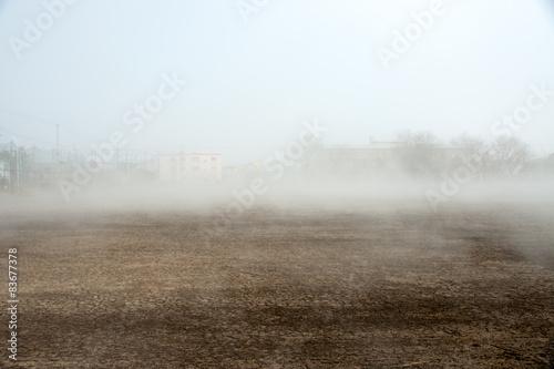 Obraz na płótnie 霧のグラウンド