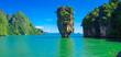 Leinwanddruck Bild - james bond island in thailand, ko tapu