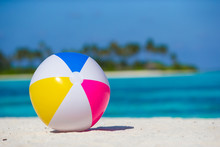 Air Ball At White Beach With Turquoise Sea And Blue Sky