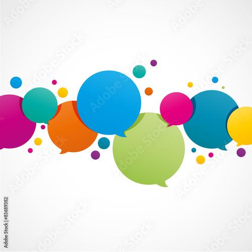 Fotografía  bulles dialogue