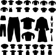 Set Of Cloth Man And Woman