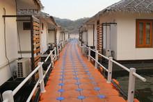 Floating Walkway In Resort