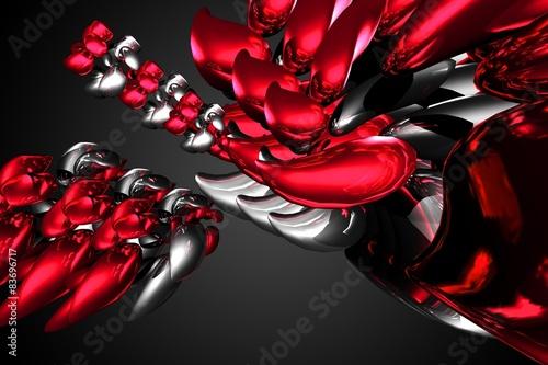 Fototapeta czerwony kolor