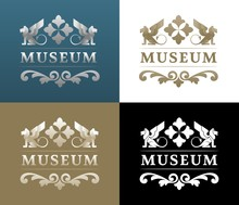 'Museum' Vintage Logo Design On Historical/architectural Theme