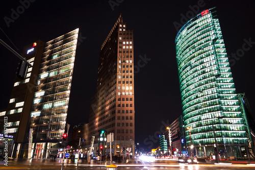 Fotografie, Obraz  Evening view of Potsdamer Platz - financial district of Berlin