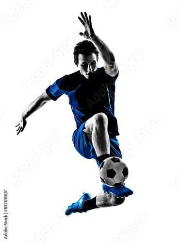 italian soccer player man silhouette Tablou Canvas