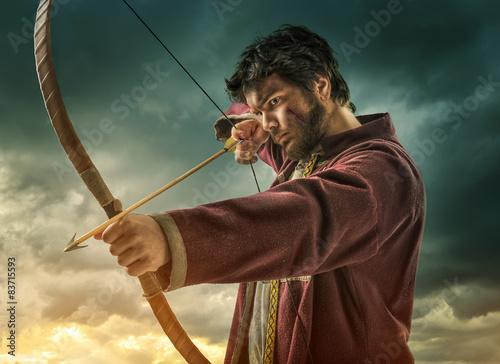 The men's archery target - close Wallpaper Mural