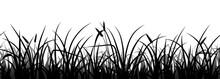 Seamless Grass Silhouette On W...