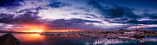 Panoramic View Of Colorful Clo...