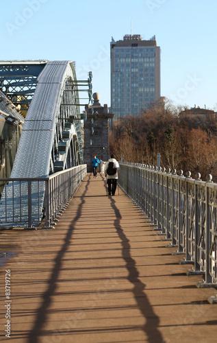 Fotografie, Obraz  Andrew pedestrian bridge in Moscow