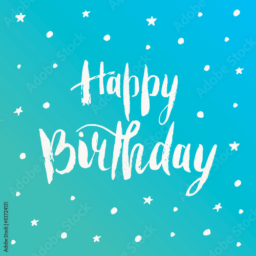 In de dag Retro sign Happy birthday greeting card