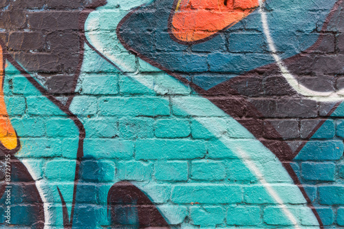 Acrylic Prints Graffiti Graffiti wall close up / macro