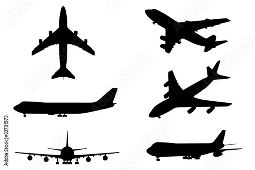 Fotografia  Isolated plane collection 6in1