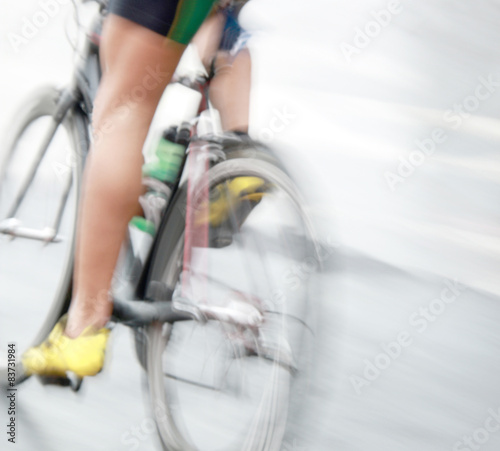 Foto op Plexiglas Fietsen Legs of a very fast bicycle