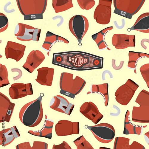 boksowac-przedmioty-bezszwowego-wzoru-tlo
