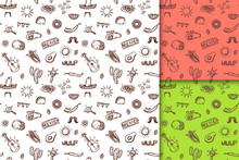 Mexican Hand Drawn Pattern Set